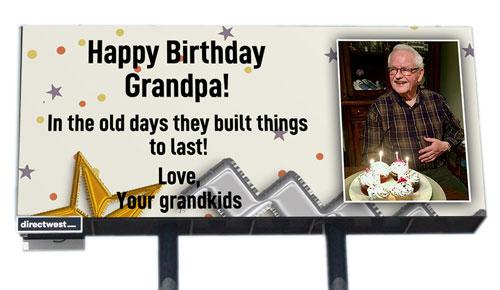 happy birthday grandpa billboard